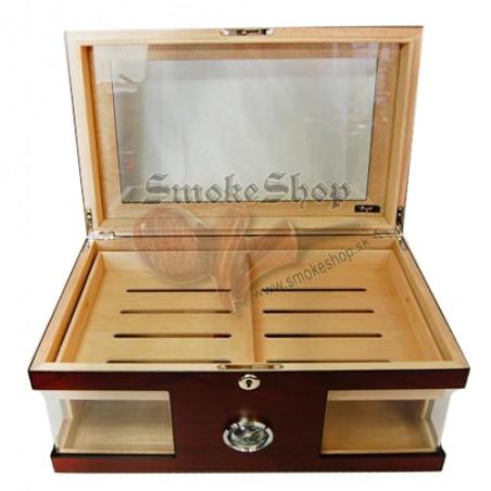 Humidor wood cristallglas