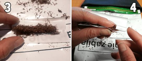 ako ubaliť cigaretu tabak papierik filter