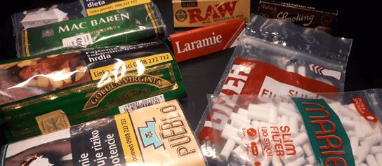 papieriky filtre tabak balenie cigarety