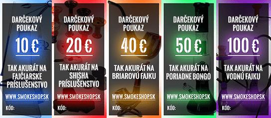 darčekové poukazy smokeshop.sk