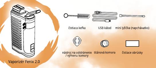 vaporizér Fenix 2.0 s  príslušenstvom