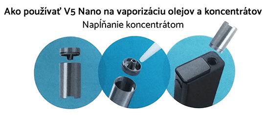 vaporizér flowermate v5 nano používanie na koncentráty