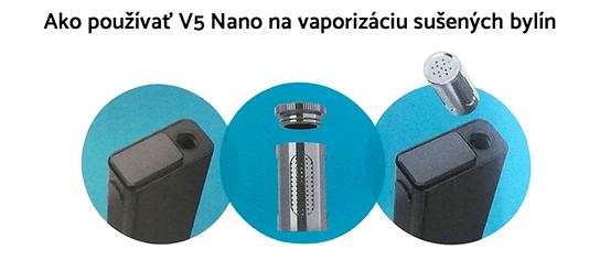 vaporizer flowermate v5 nano použitie na sušené byliny