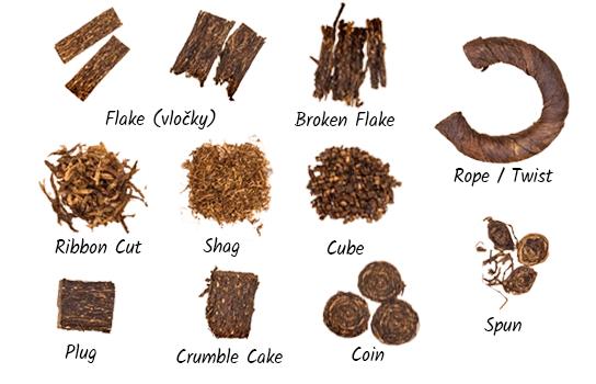 typy rezu fajkového tabaku