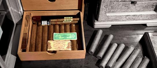 luxusný humidor a kubánske cigary