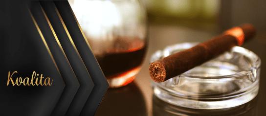 kvalitná cigara v popolníku