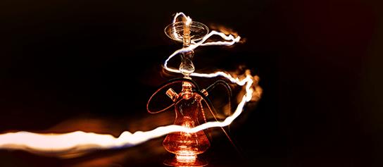 svetelné efekty vodnej fajky